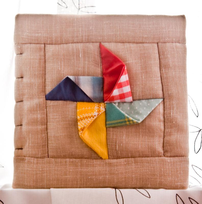 pinwheel photo album cover