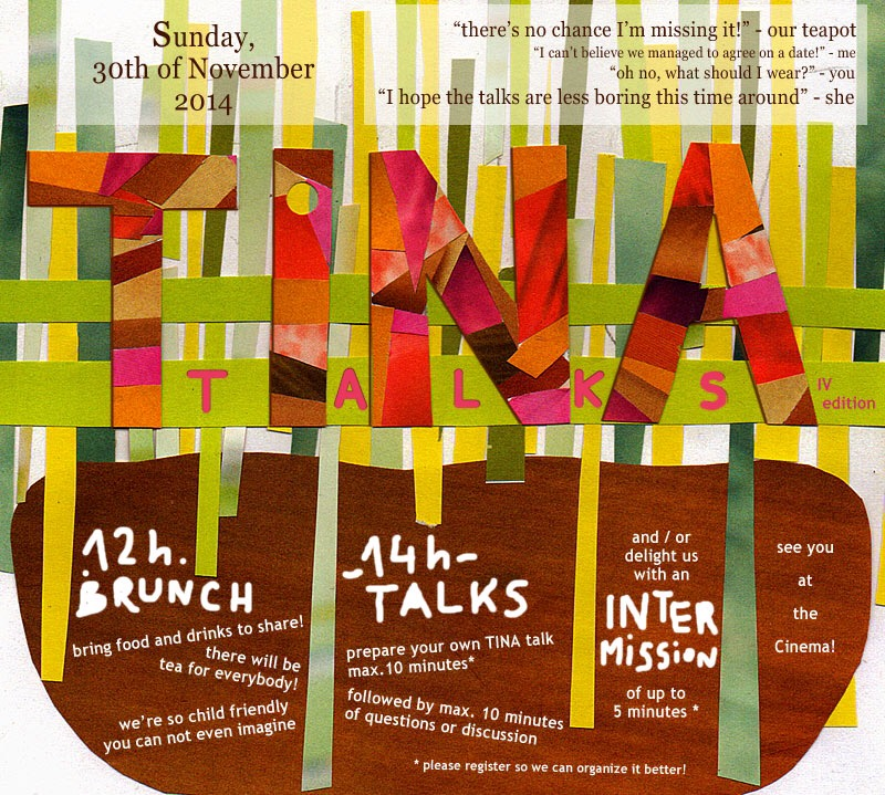TINA talks poster design